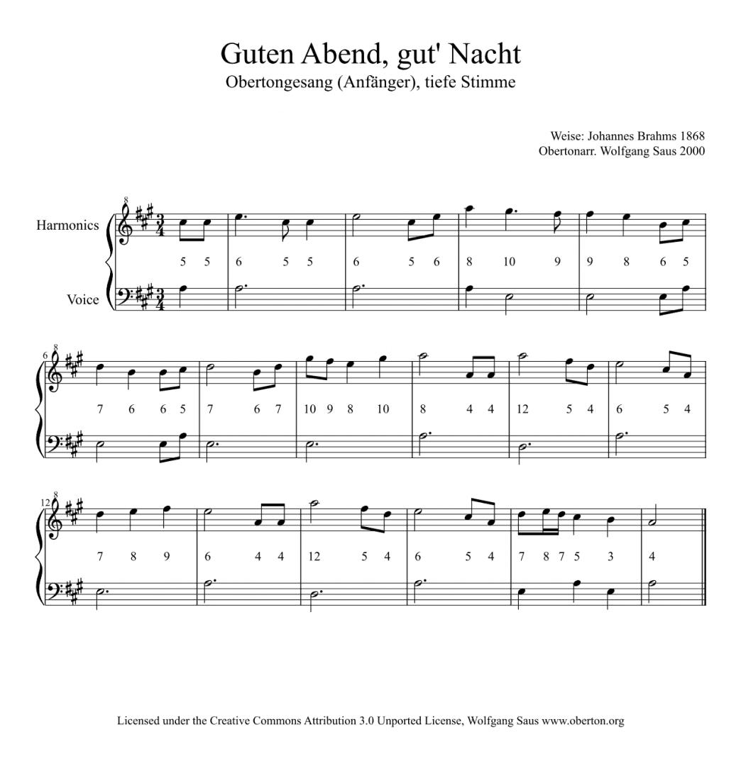 Bildergebnis für Guten Abend Gute Nacht Klaviernoten Kostenlos