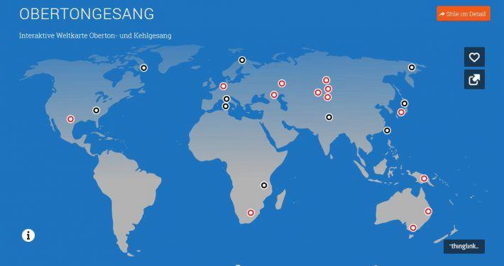 Interaktive Weltkarte Obertongesang