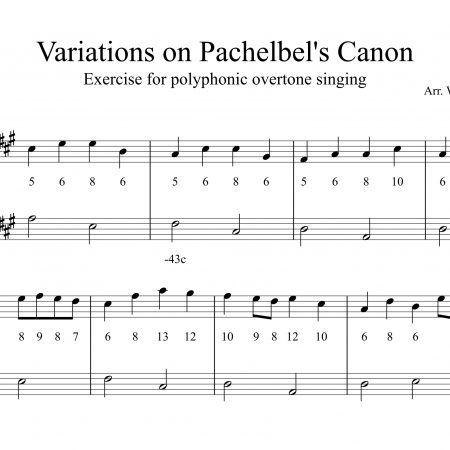 Pachelbel Kanon, Kurzfassung für Obertongesang