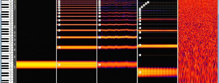 Spektrogramme von Ton, Klang, Geräusch