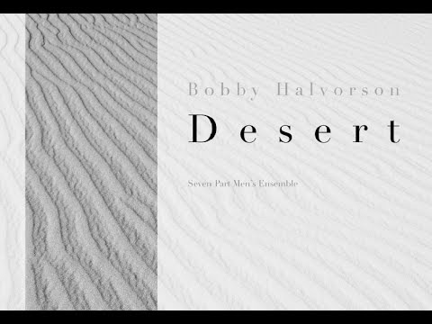 The Desert, By Bobby Halvorson