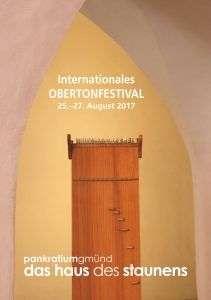 Plakat - Internationales Obertonfestival in Gemünd, Kärnten