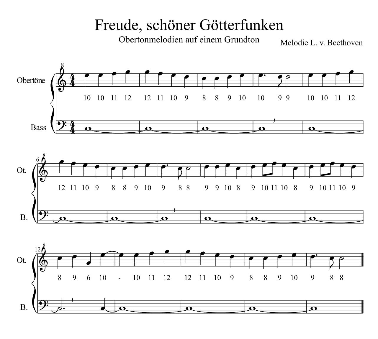 Beethoven - Freude schöner Götterfunken in g