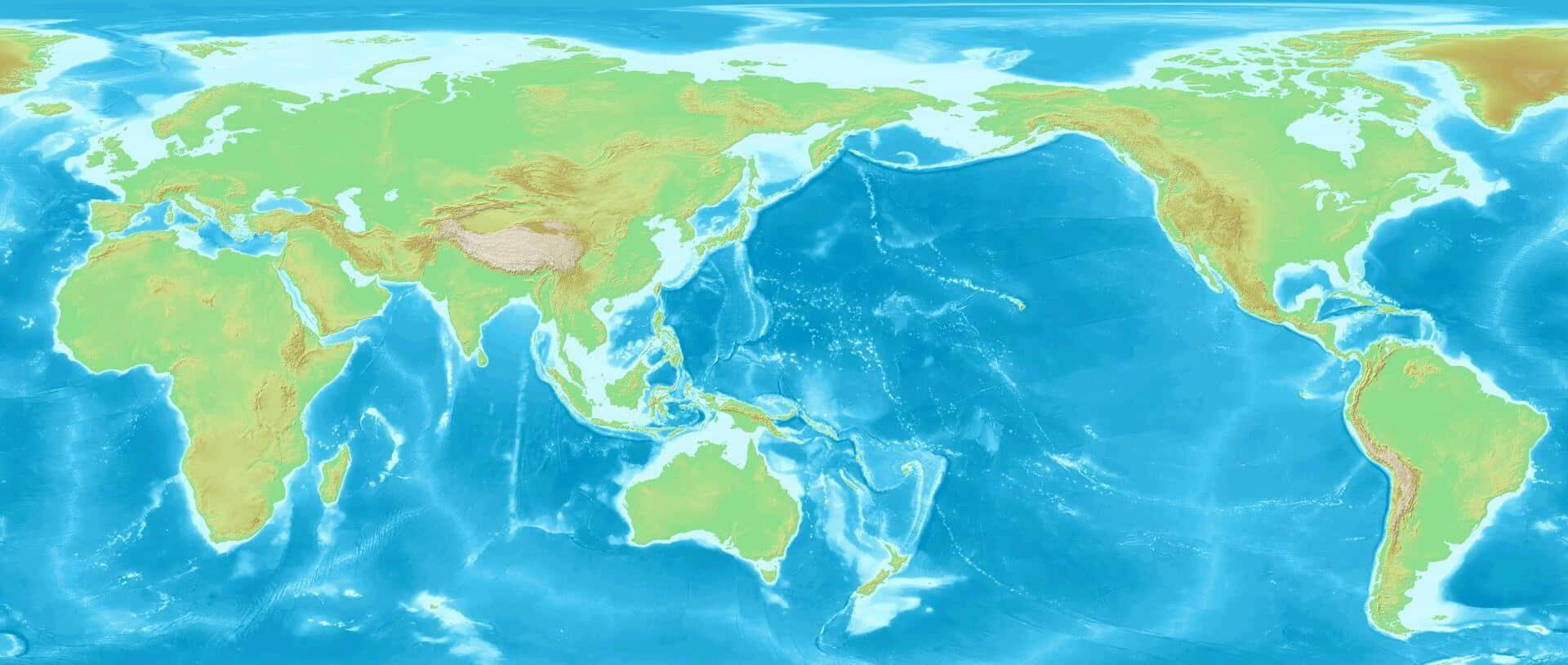 Weltkarte Pazifik