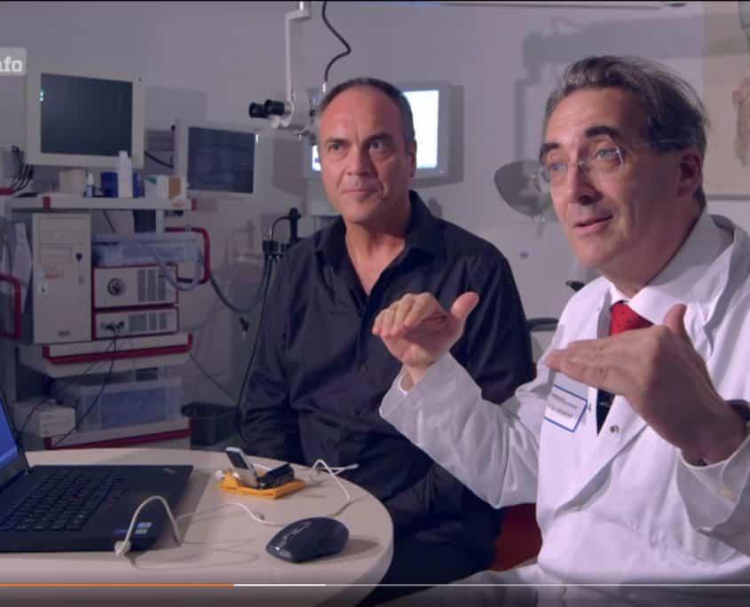 BBC Doku 2017 University Freibrug, Prof. Bernhard Richter,Wolfgang Saus. Screenshot ZDF