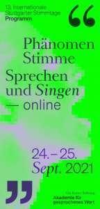 Stuttgarter Stimmtage Programmheft Titelbild