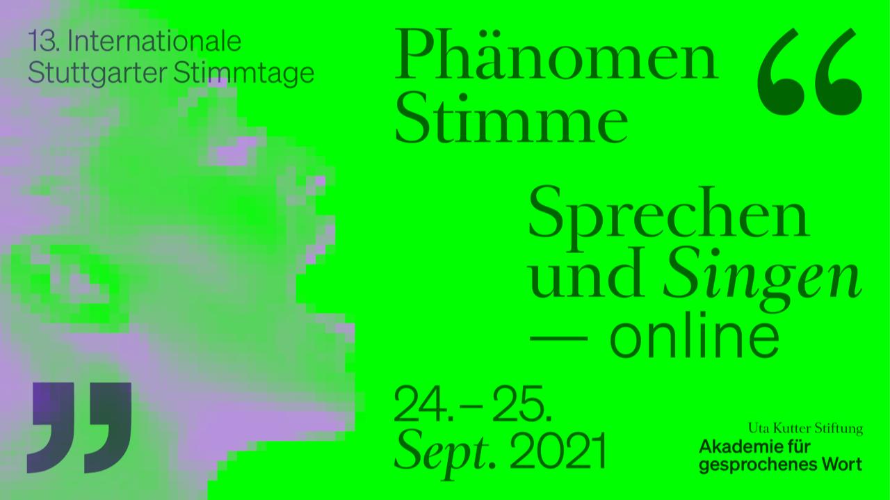 13. Internationale Stuttgarter Stimmtage