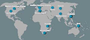 Weltkarte des Obertongesangs