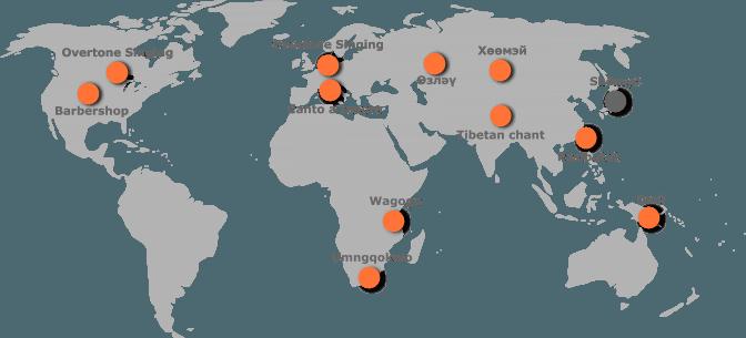 worldmap overtone singin Japan