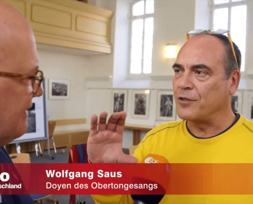 Achim Winter, ZDF, im Obertonkurs mit Wolfgang Saus